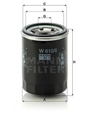 MANN-FILTER W 610/6 - Ölfilter