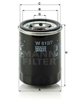 MANN-FILTER W 610/7 - Ölfilter