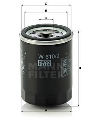 MANN-FILTER W 610/9 - Ölfilter