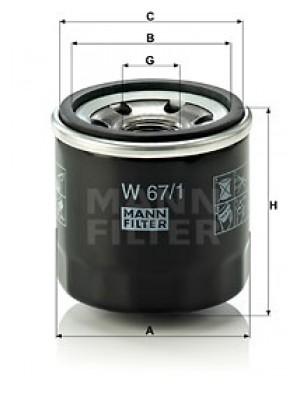 MANN-FILTER W 67/1 - Ölfilter