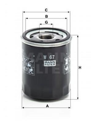 MANN-FILTER W 67 - Ölfilter