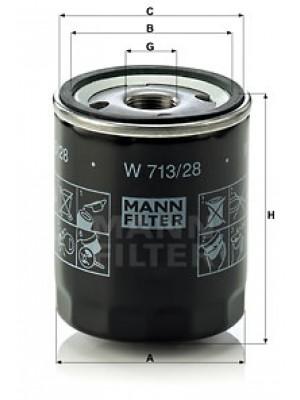 MANN-FILTER W 713/28 - Ölfilter