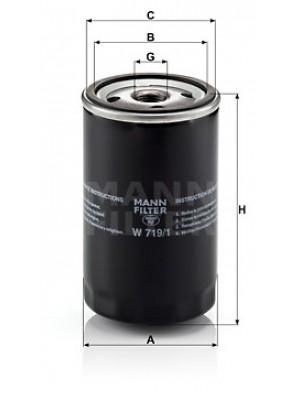 MANN-FILTER W 719/1 - Ölfilter