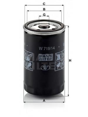 MANN-FILTER W 719/14 - Ölfilter