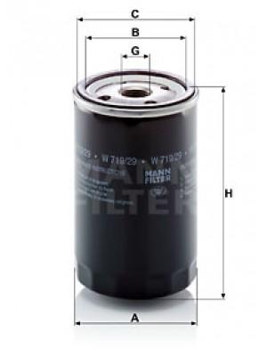 MANN-FILTER W 719/29 - Ölfilter
