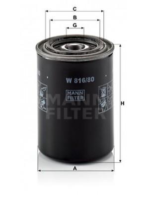 MANN-FILTER W 816/80 - Ölfilter