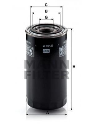 MANN-FILTER W 951/5 - Hydraulikfilter, Automatikgetriebe
