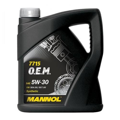 Mannol 7715 O.E.M. for VW Audi Skoda 5W-30 Motoröl 5l